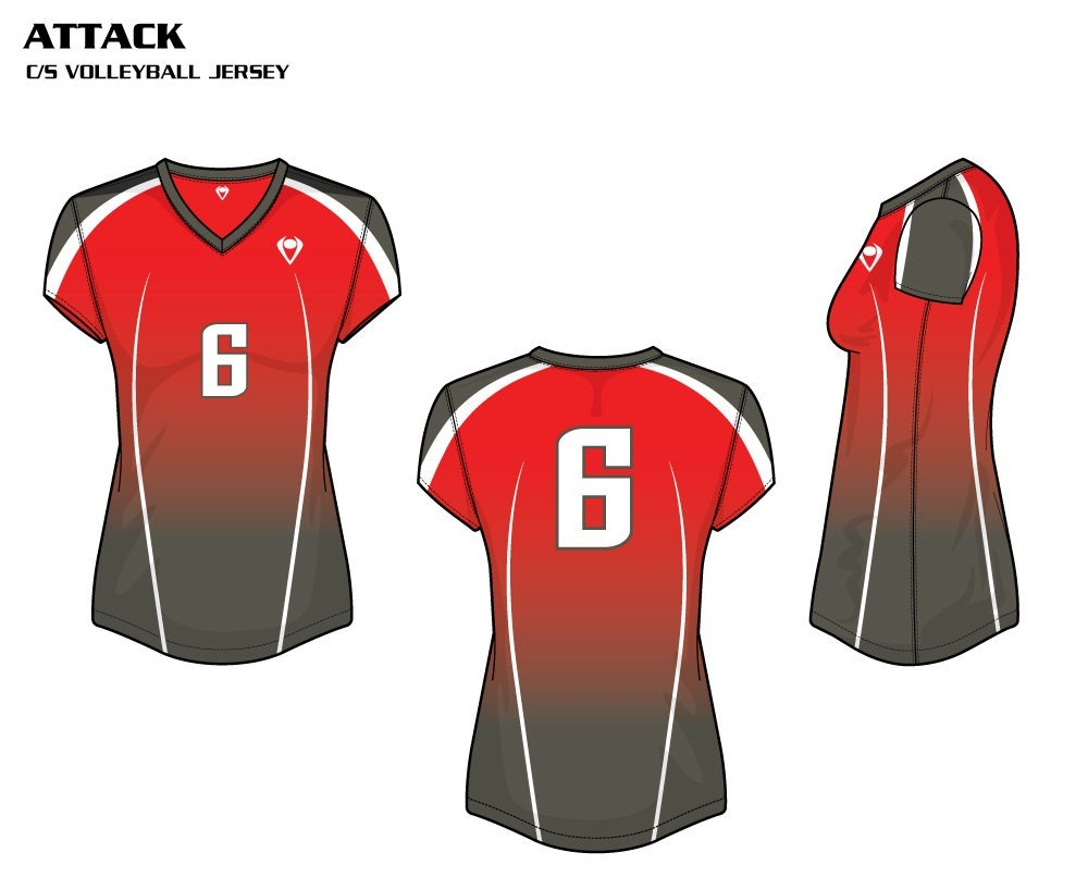 Attack Women's Sublimated Volleyball Jersey