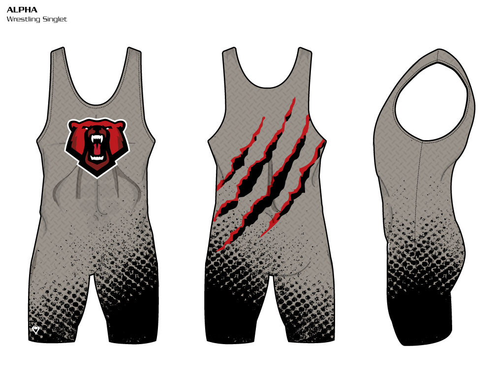 Alpha Sublimated Wrestling Singlet