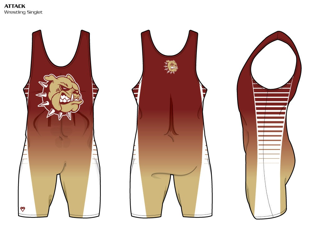 Attack Sublimated Wrestling Singlet