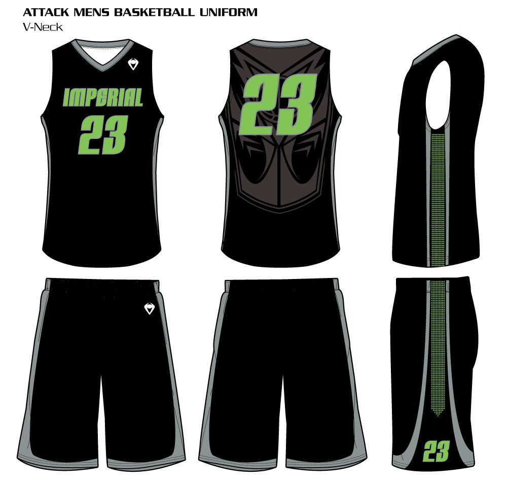 6143a66c586 CUSTOMIZE. Attack Men s Sublimated Basketball Uniform Attack Men s Sublimated  Basketball Uniform