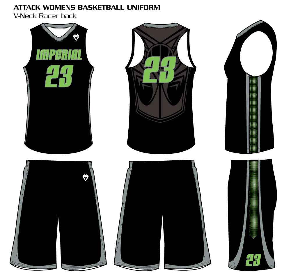 Attack Women's Sublimated Basketball Uniform