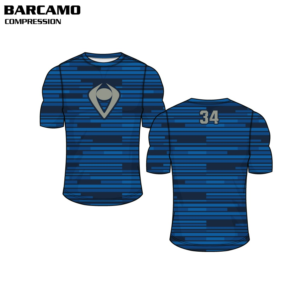 Bar Camo Sublimated Compression Top