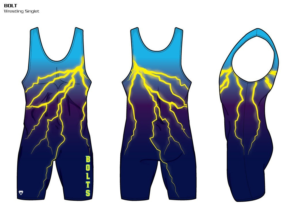 Bolt Sublimated Wrestling Singlet