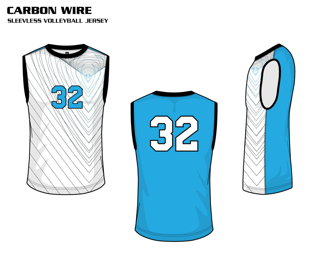 Carbon Wire Men's Sublimated Volleyball Jersey