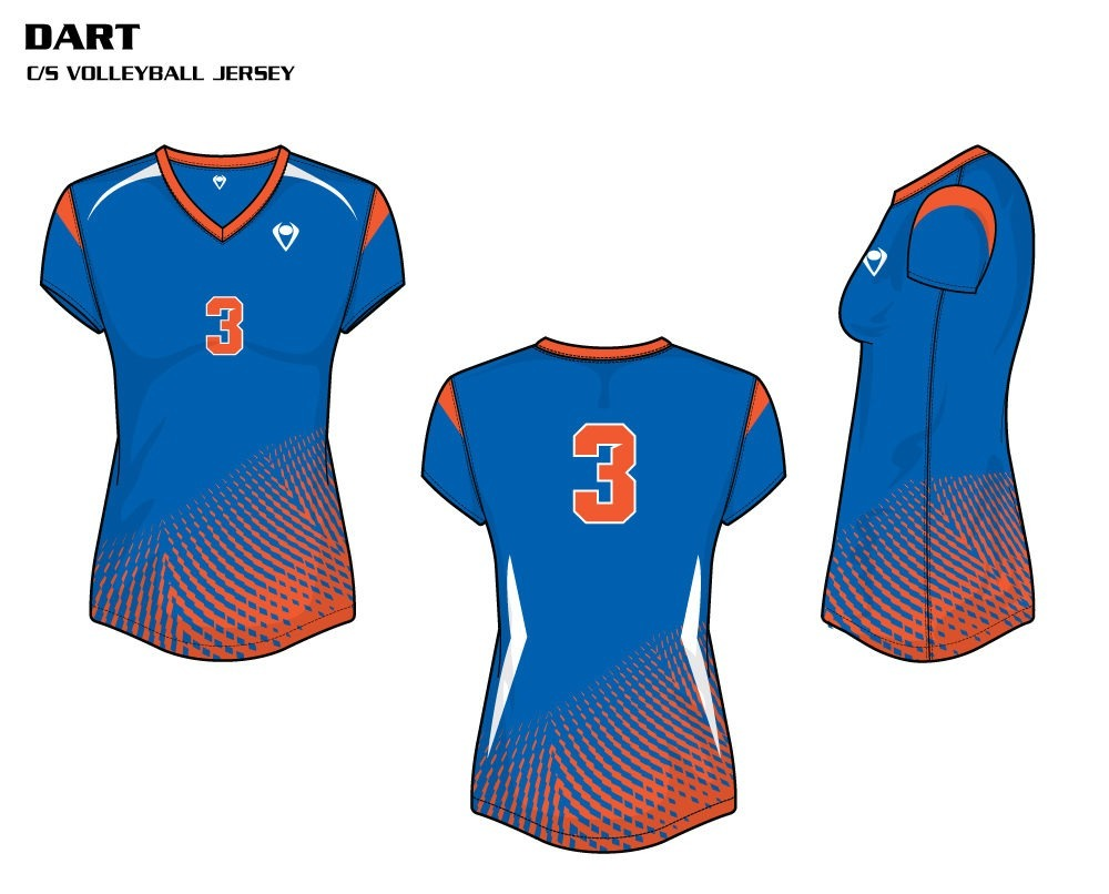 Dart Women's Sublimated Volleyball Jersey