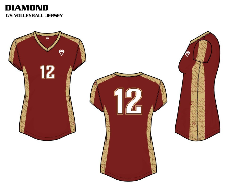 Diamond Women's Sublimated Volleyball Jersey