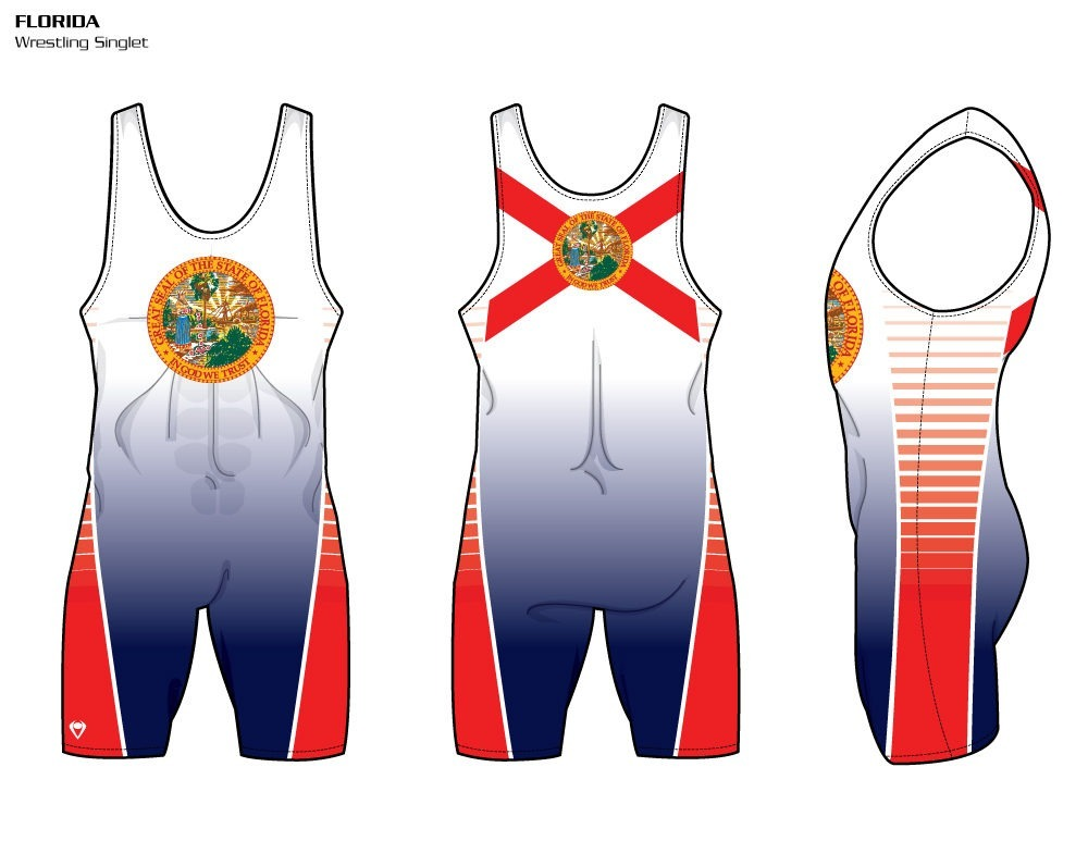 Florida Sublimated Wrestling Singlet