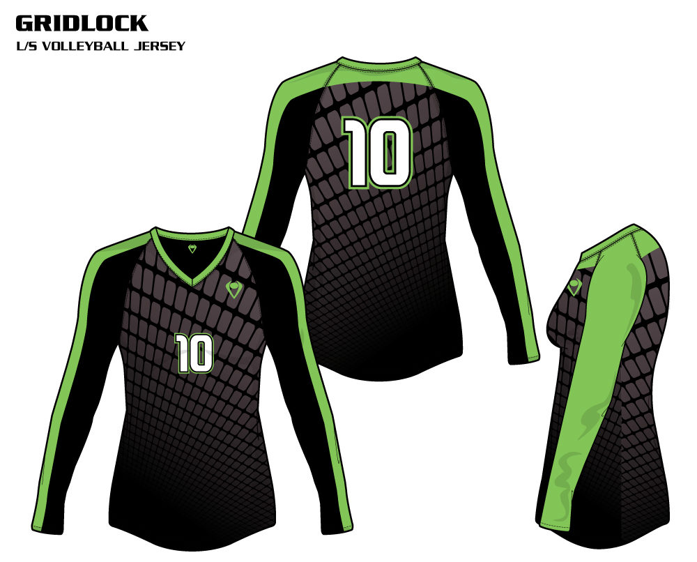 Gridlock Women's Sublimated Volleyball Jersey