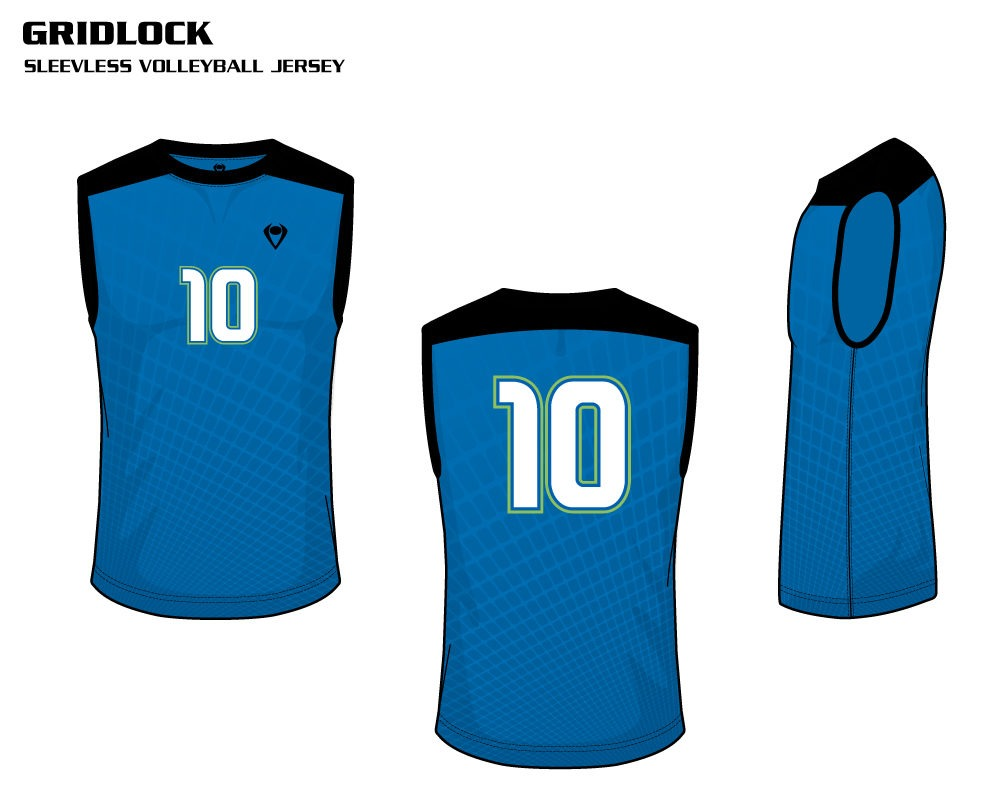 Gridlock Men's Sublimated Volleyball Jersey