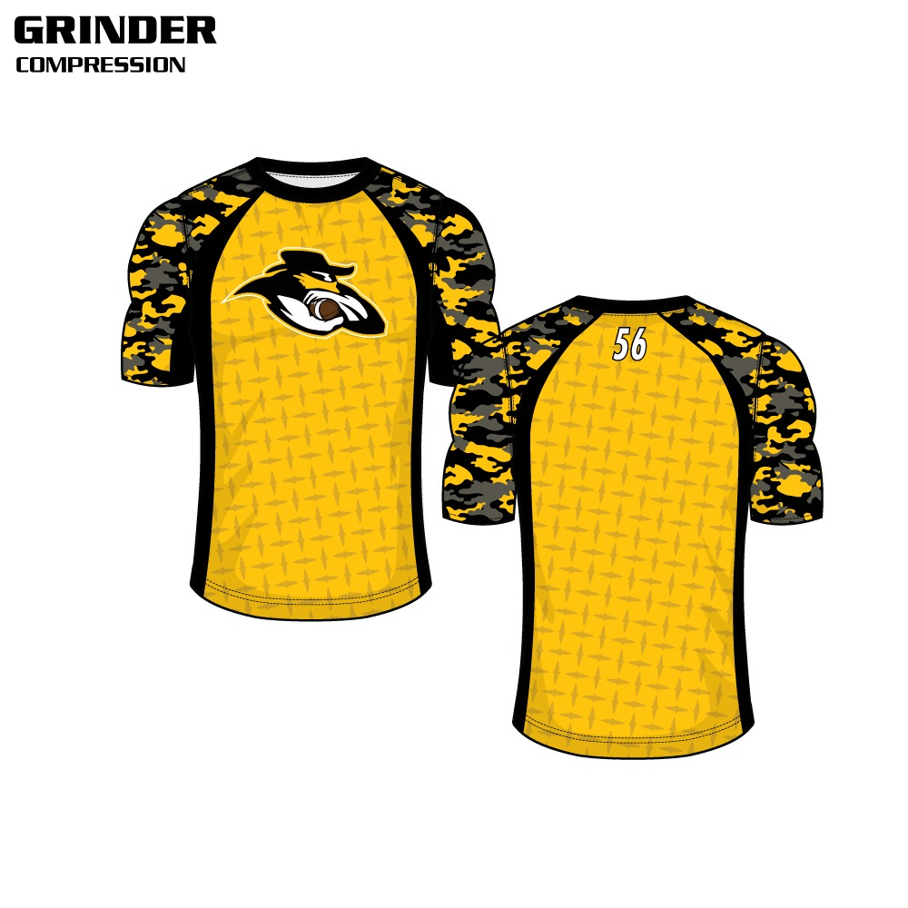 Grinder Sublimated Compression Top