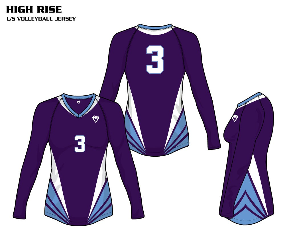 High Rise Women's Sublimated Volleyball Jersey