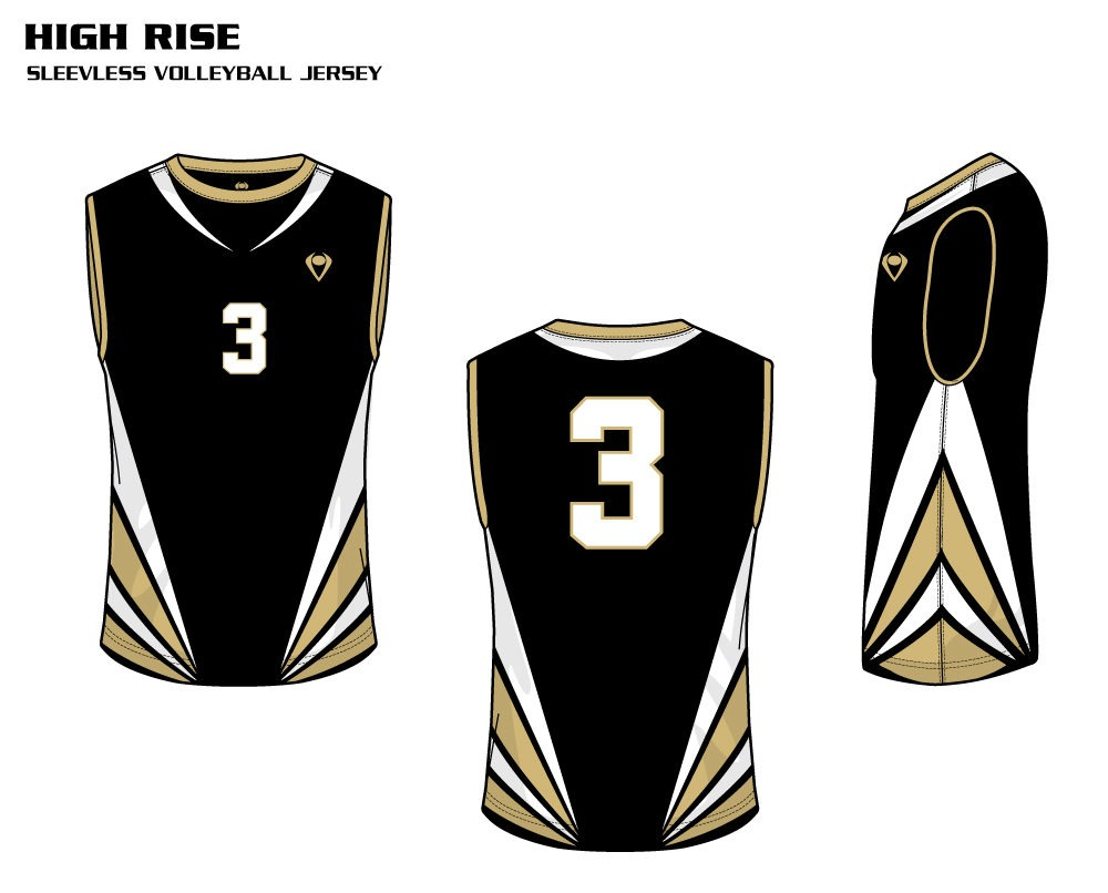 High Rise Men's Sublimated Volleyball Jersey