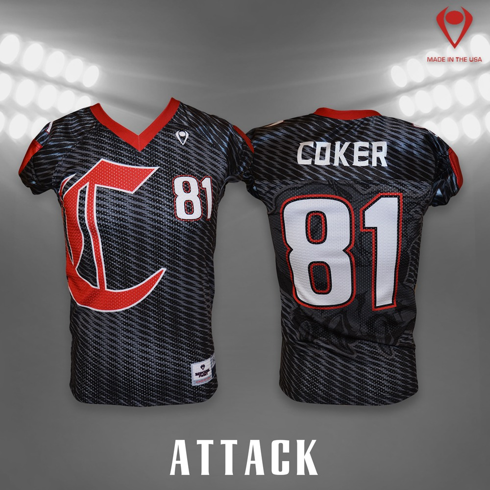Attack Sublimated Football Jersey