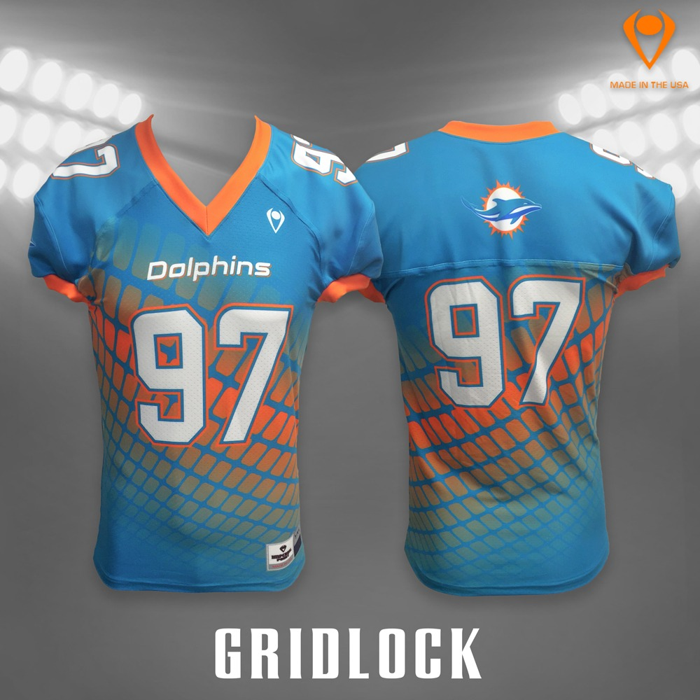 Gridlock Sublimated Football Jersey