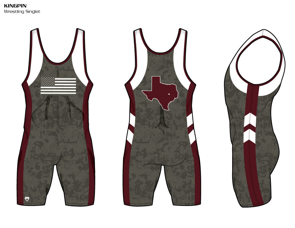 Kingpin Sublimated Wrestling Singlet