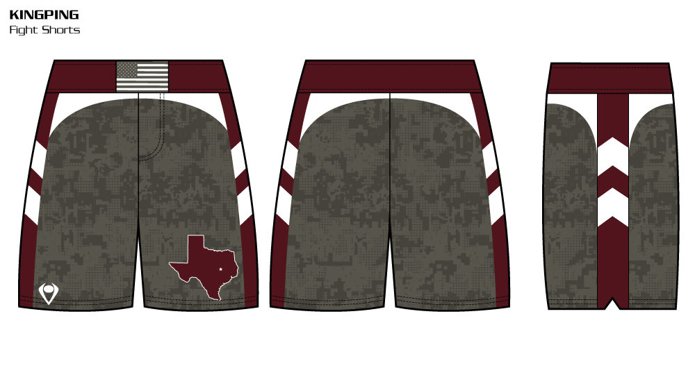Kingpin Sublimated Fight Shorts