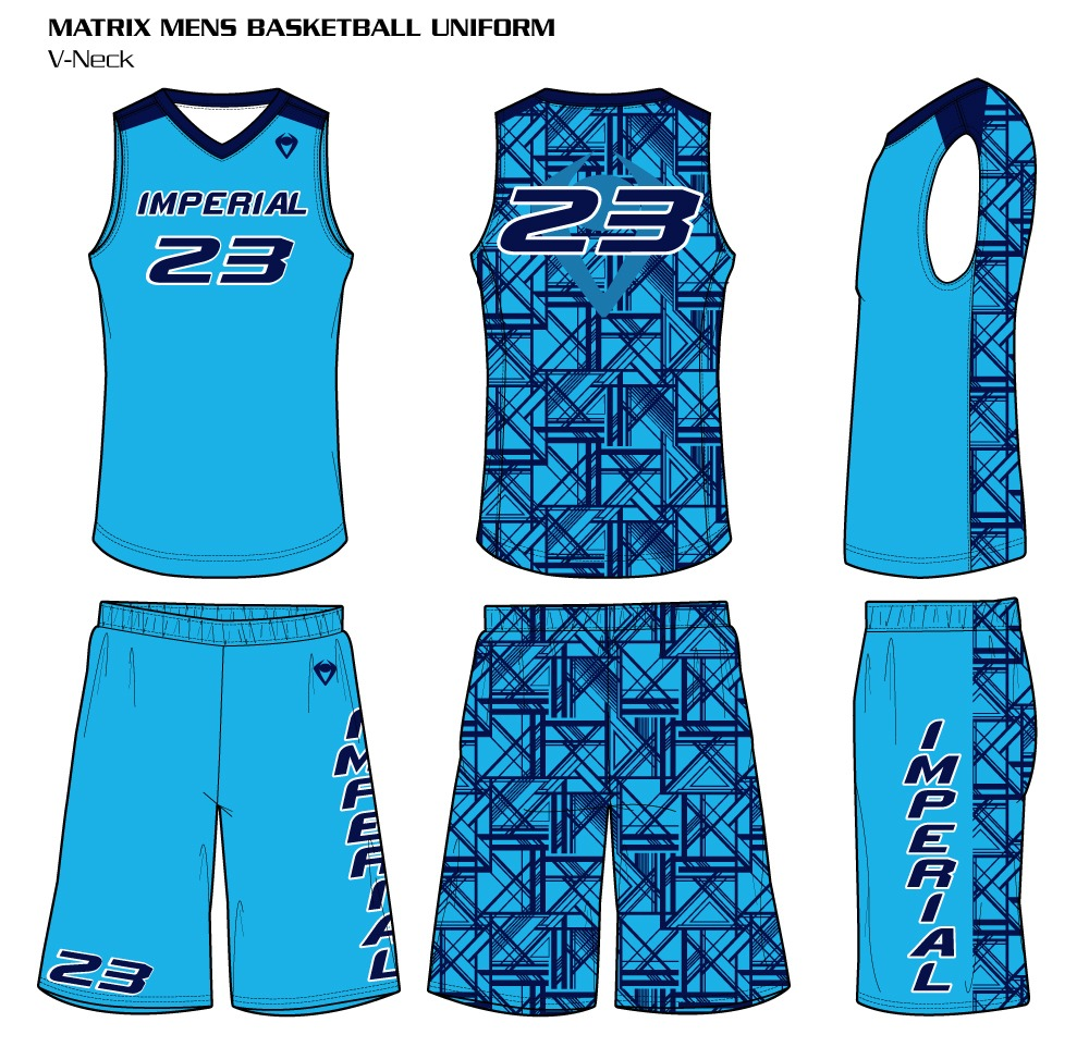 68be15716fb4 Matrix Men s Sublimated Basketball Uniform Reversible Basketball Uniforms