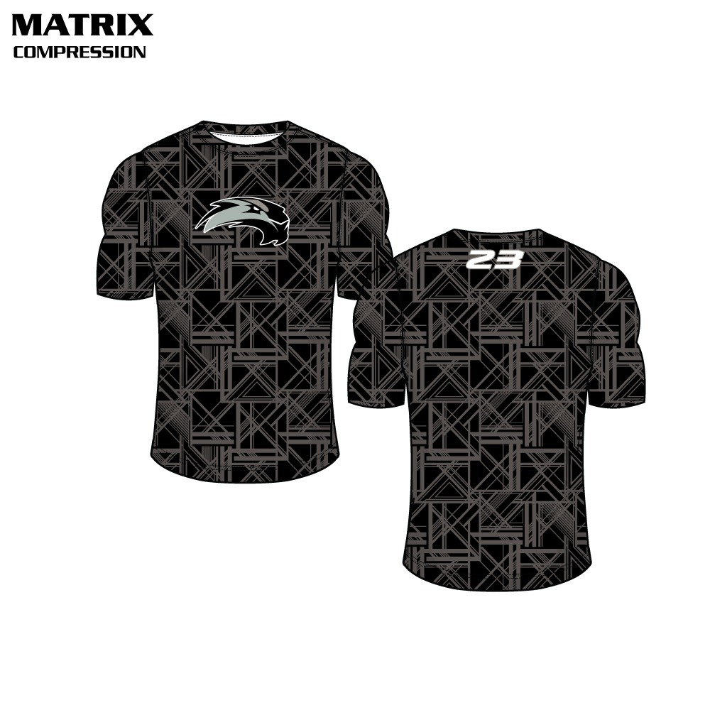 Matrix Sublimated Compression Top