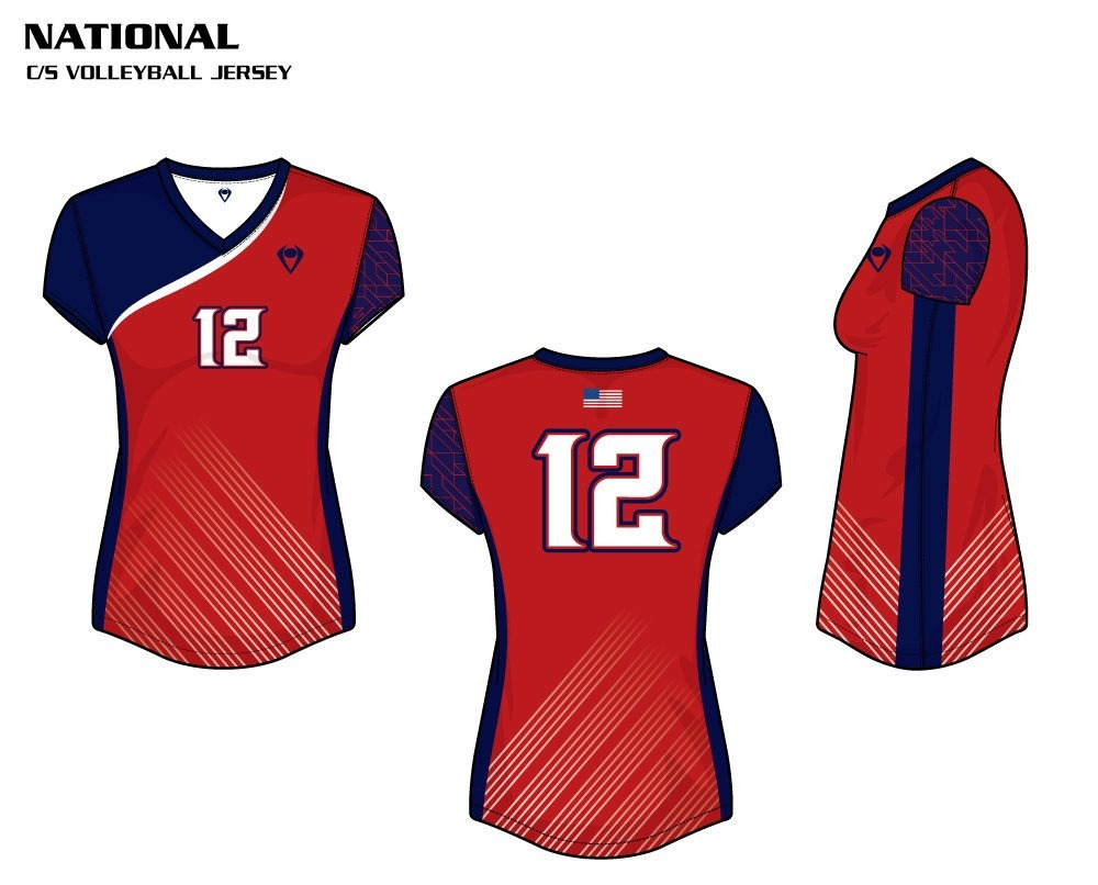 National Women's Sublimated Volleyball Jersey