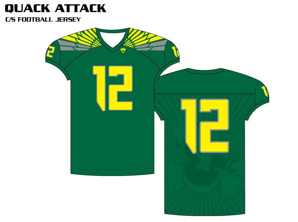 Quack Attack Sublimated Football Jersey