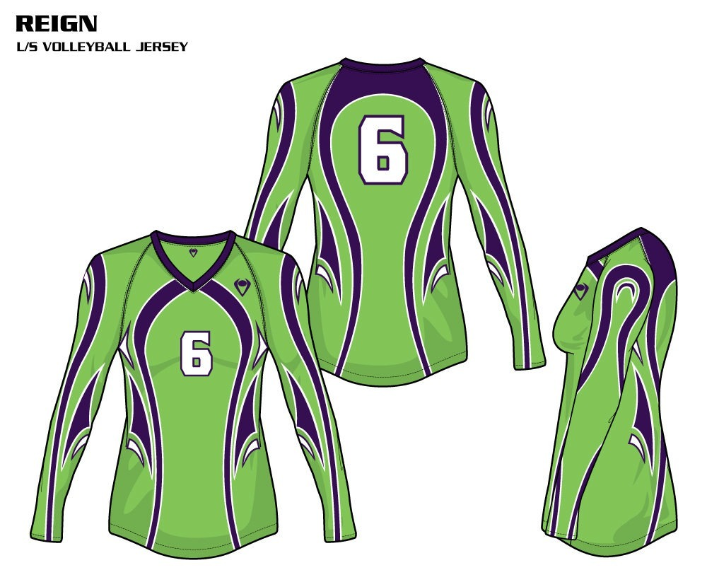 Reign Women's Sublimated Volleyball Jersey