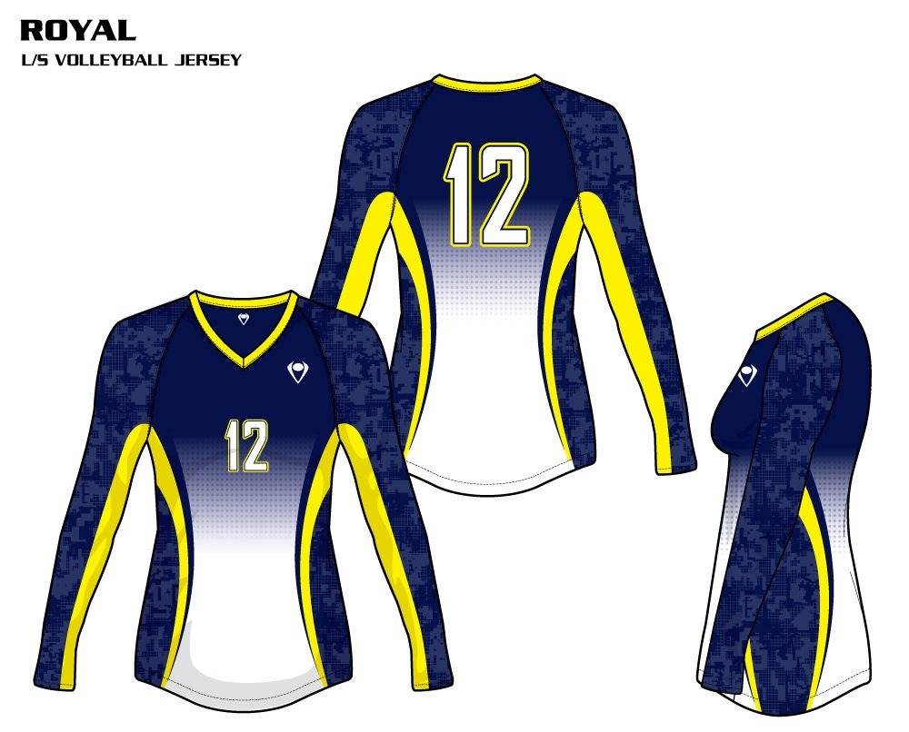 Royal Women's Sublimated Volleyball Jersey