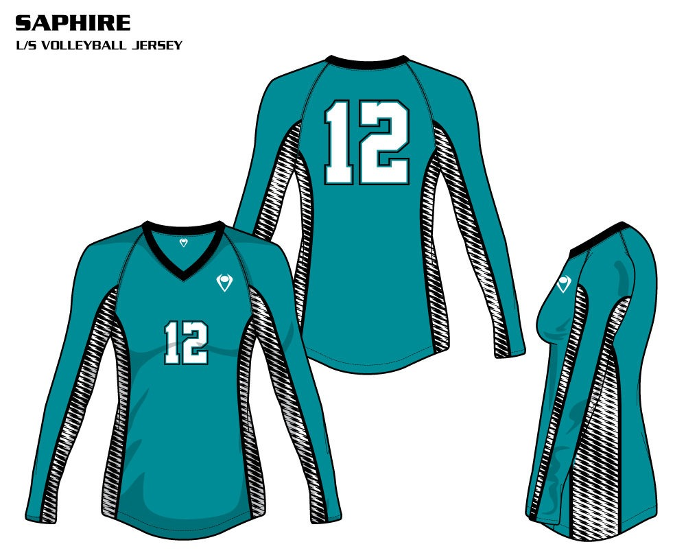 Sapphire Women's Sublimated Volleyball Jersey