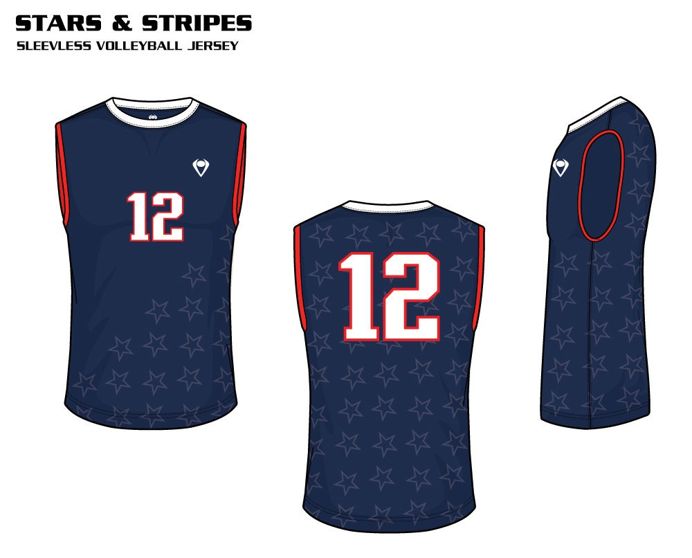 Stars & Stripes Sublimated Volleyball Jersey