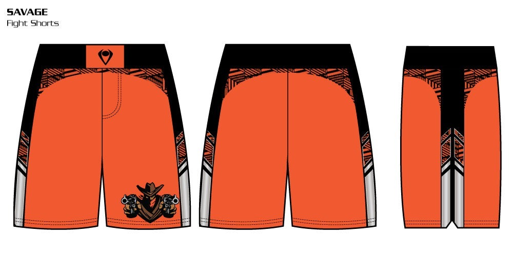 Savage Sublimated Fight Shorts