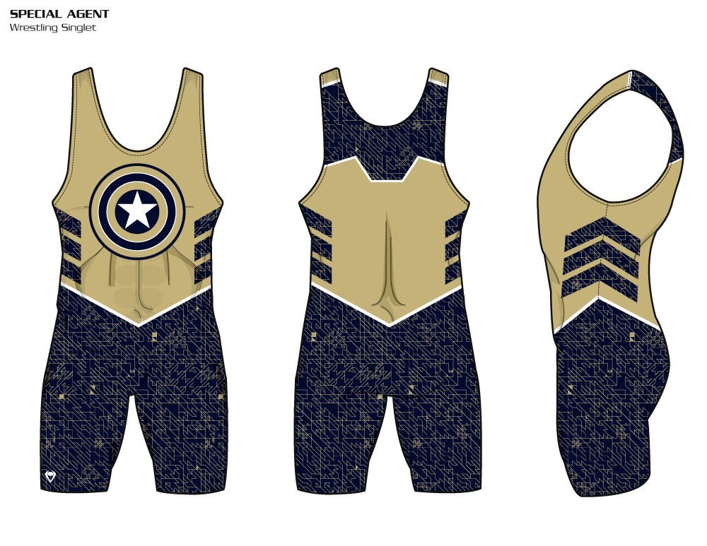 Special Agent Sublimated Wrestling Singlet