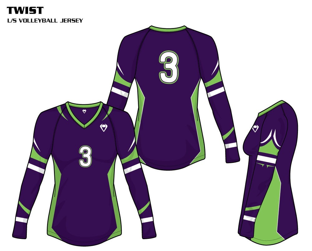 Twist Women's Sublimated Volleyball Jersey