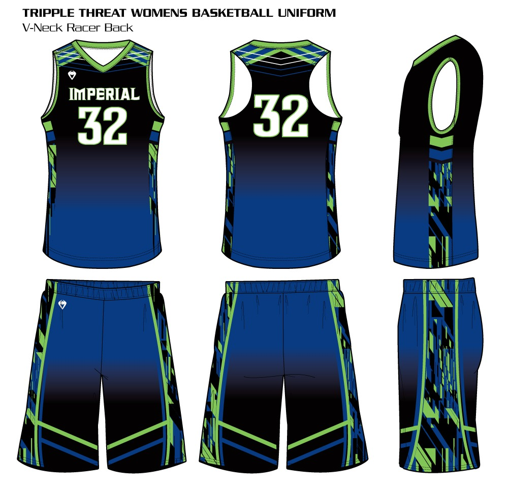 d65283938d4e Triple Threat Women s Sublimated Basketball Uniform