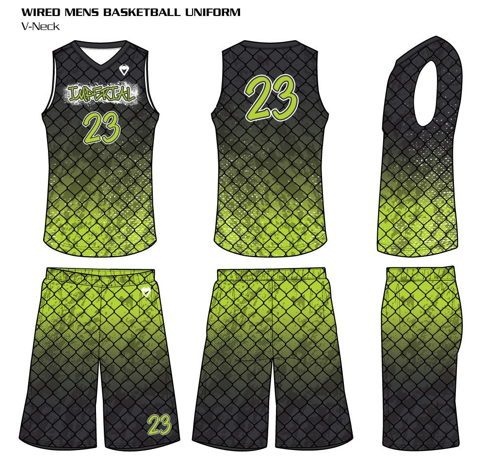 Wired Men's Sublimated Basketball Uniform
