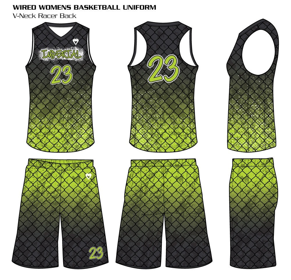 Wired Women's Sublimated Basketball Uniforms