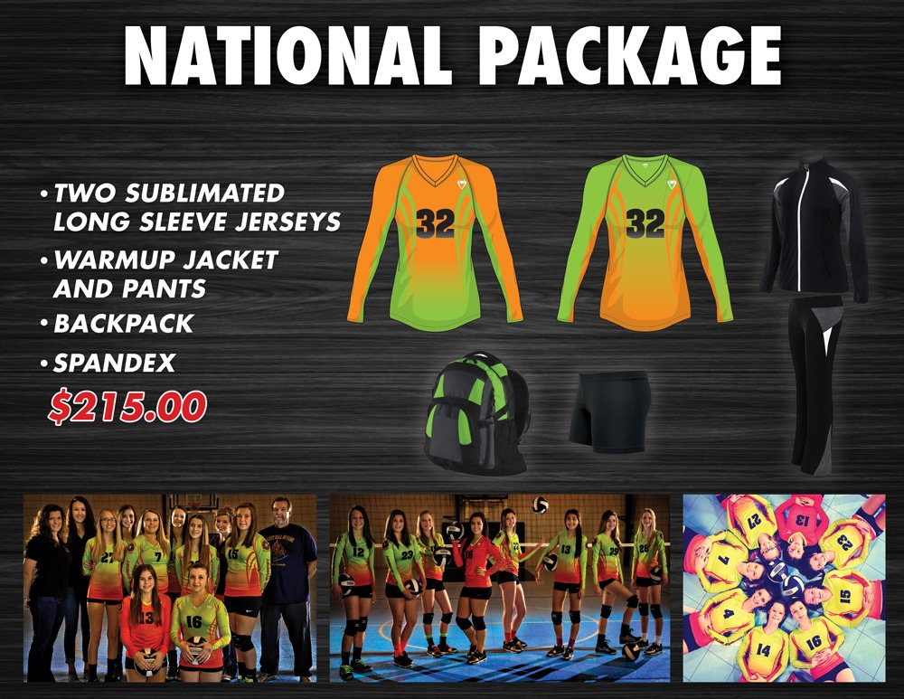 Custom Sublimated Jerseys Promotions National Package